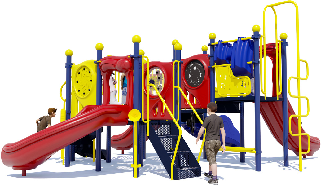 Grand Central Commercial Playground - Primary Color Scheme - Back View