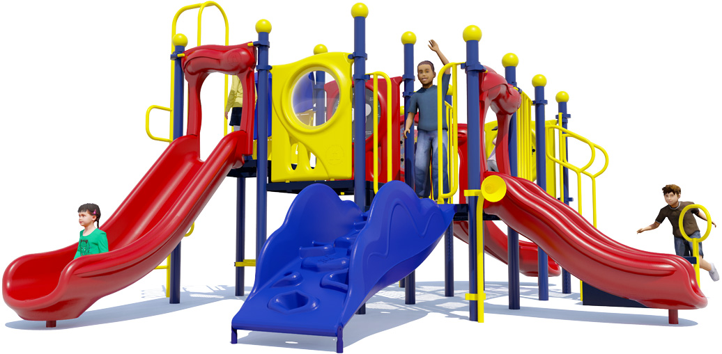 Grand Central Commercial Playground - Primary Color Scheme - Front View