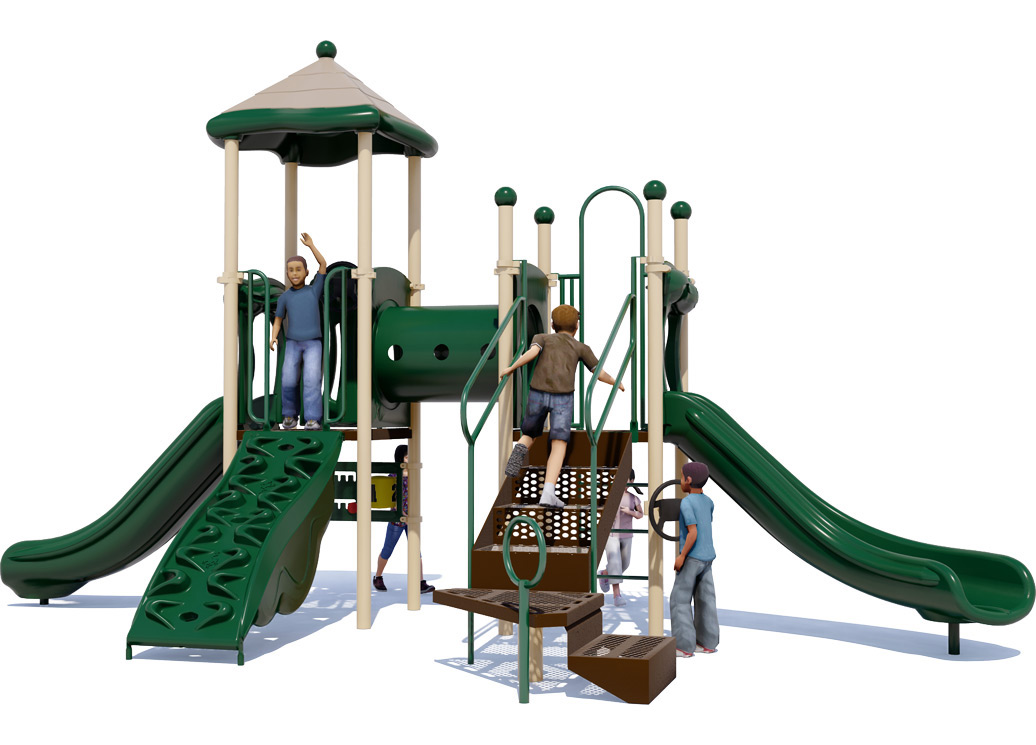 Play Date - Playground Equipment For Children Ages 2-12 - Natural - Back
