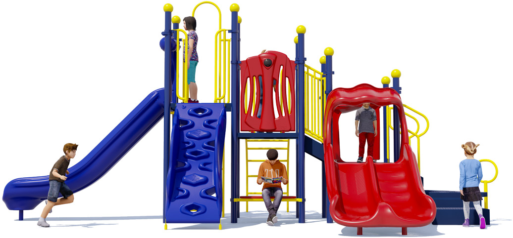 Bullseye Playground Structure - Front View - Primary | American Parks Company