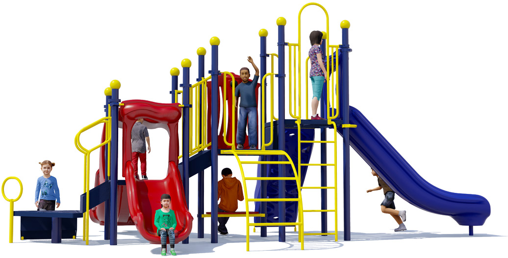 Bullseye Playground Structure - Rear View - Primary | American Parks Company