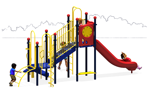 Whimsical Wheel - Commercial Playground Equipment - Primary - Back