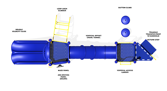 Total Tunnel - Top View - Commercial Playground Structure
