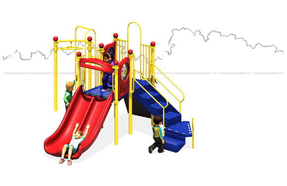 Double Down - Play Structure - Primary Colors - Front