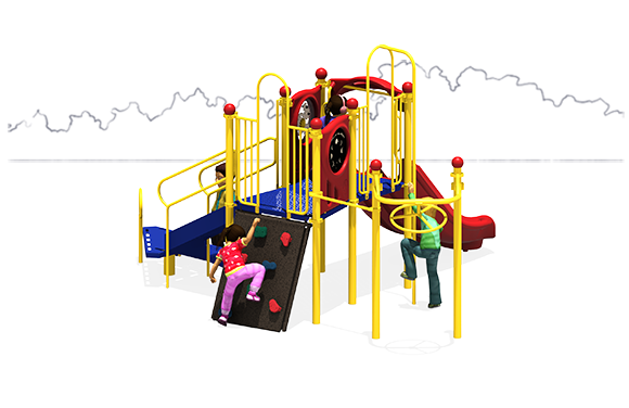 Double Down - Play Structure - Primary Colors - Back