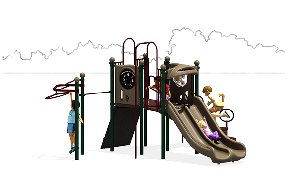 Double Down - Play Structure - Natural Colors - Front