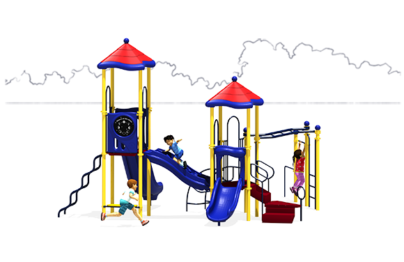 Merry Madison - Play Structure - Primary - Back