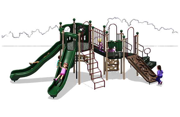 Showtime Play Structure - Natural Color Scheme - Front View