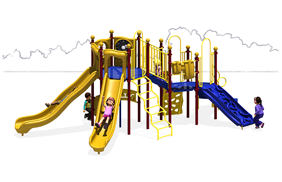 Showtime Play Structure - Primary Color Scheme - Front View