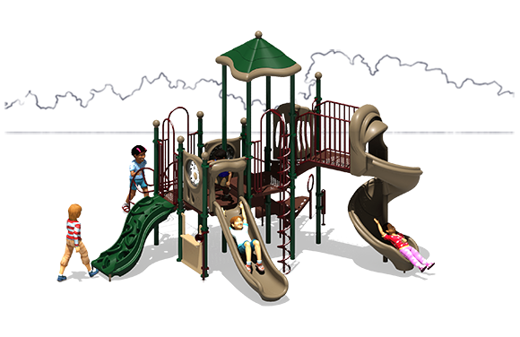 Crank It Up - Commercial Playground Equipment - Natural - Front