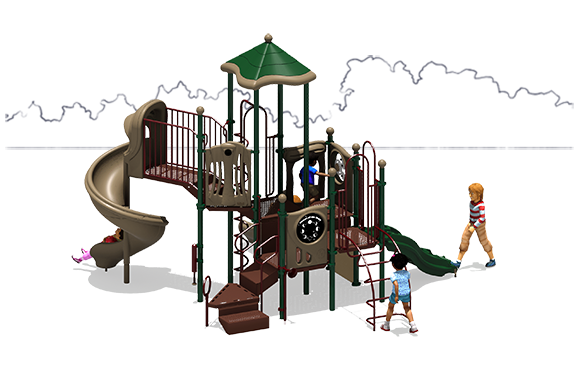 Crank It Up - Commercial Playground Equipment - Natural - Back