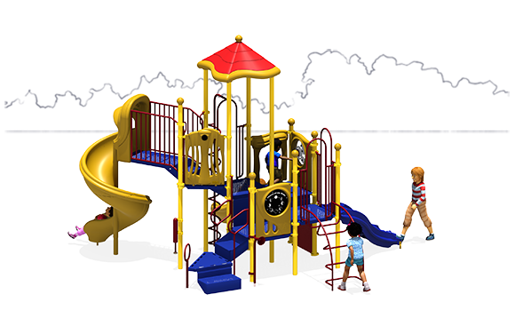 Crank It Up - Commercial Playground Equipment - Primary - Back