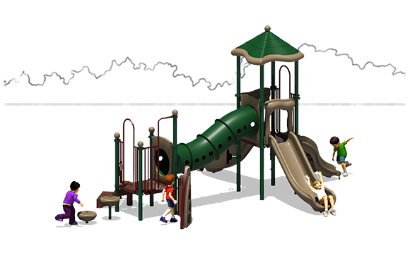 Totally Tubular - Commercial Playground Equipment - Natural - Front