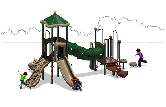 Totally Tubular - Commercial Playground Equipment - Natural - Back