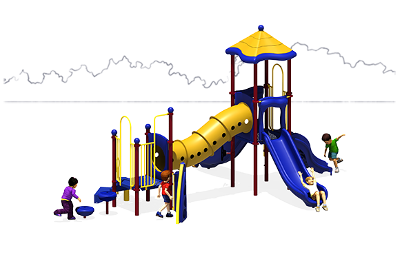 Totally Tubular - Commercial Playground Equipment - Primary - Front