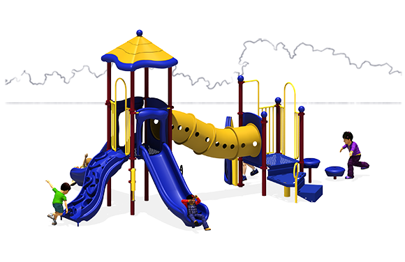 Totally Tubular - Commercial Playground Equipment - Primary - Back