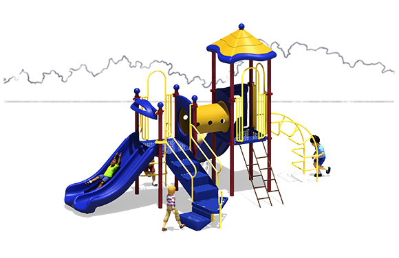 Super Train - Commercial Playground Equipment - Back - Primary
