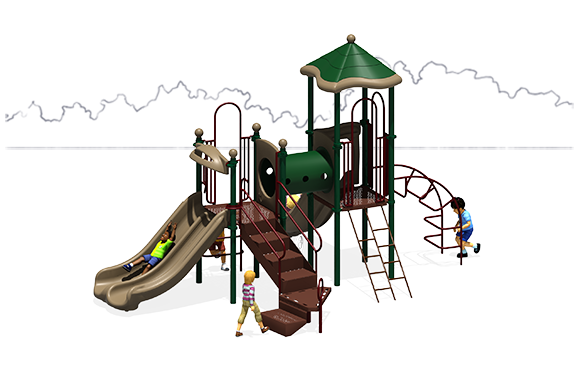 Super Train - Commercial Playground Equipment - Back - Natural