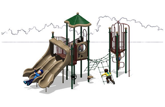 Space Odyssey - Commercial Playground Equipment - Front - Natural
