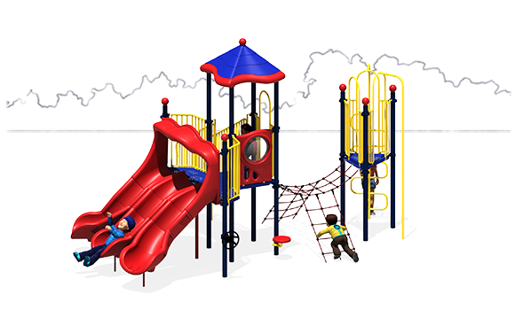 Space Odyssey - Commercial Playground Equipment - Front - Primary