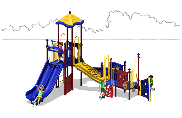 Tiger Tail - Commercial Playground Equipment - Primary Colors - Front