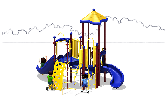 Rally Time - Commercial Playground Equipment - Primary Colors - Front