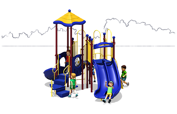 Rally Time - Commercial Playground Equipment - Primary Colors - Back