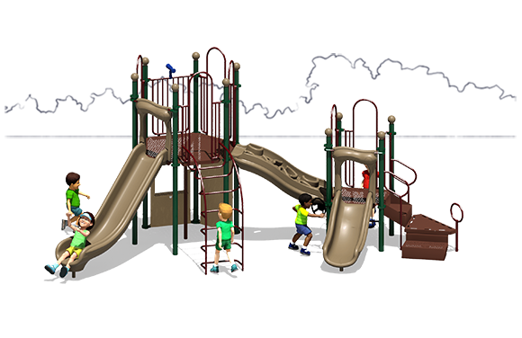 Observation Play - Commercial Playground Equipment - Front View - Natural Colors