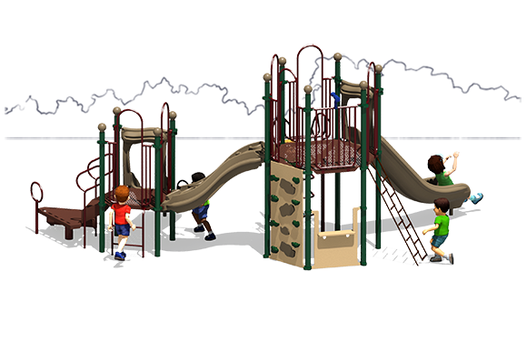 Observation Play - Commercial Playground Equipment - Back View - Natural Colors