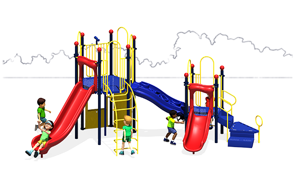 Observation Play - Commercial Playground Equipment - Front View - Primary Colors