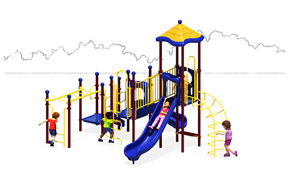 Happy Days Commercial Play Structure - Front View - Primary