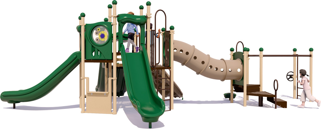 Celebration Station Play Structure - Natural Color Scheme - Front View