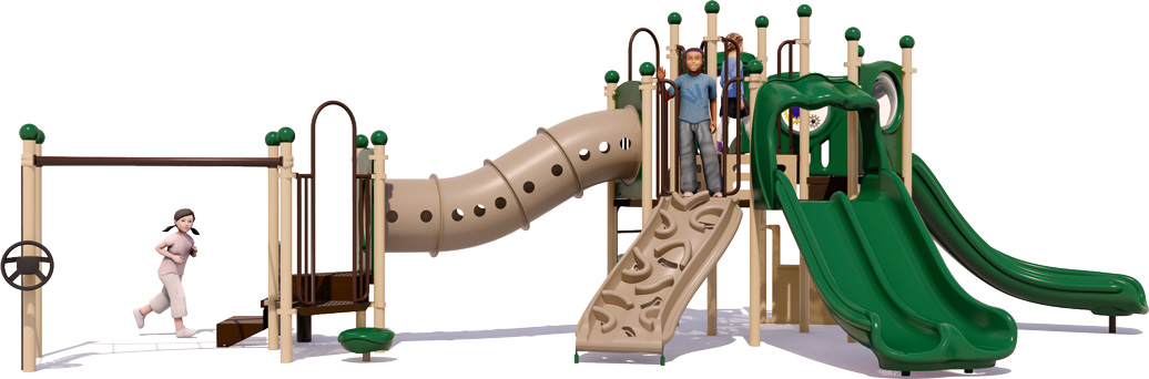 Celebration Station Play Structure - Natural Color Scheme - back View