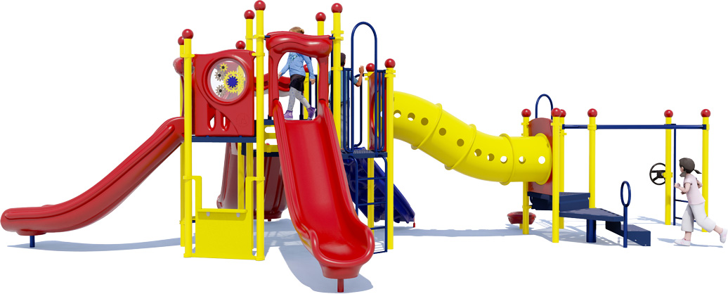 Celebration Station Play Structure - Primary Color Scheme - Back View