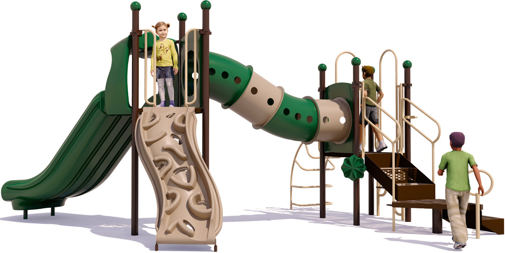 Dandy Dragon - back View - Natural Colors - Commercial Playground Equipment