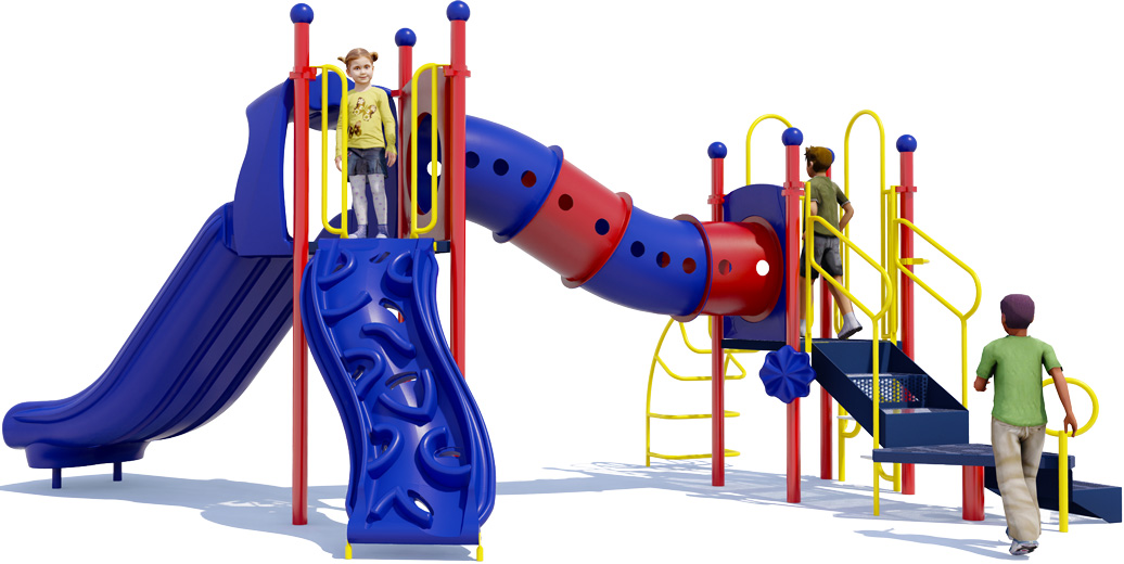 Dandy Dragon - back View - Primary Colors - Commercial Playground Equipment