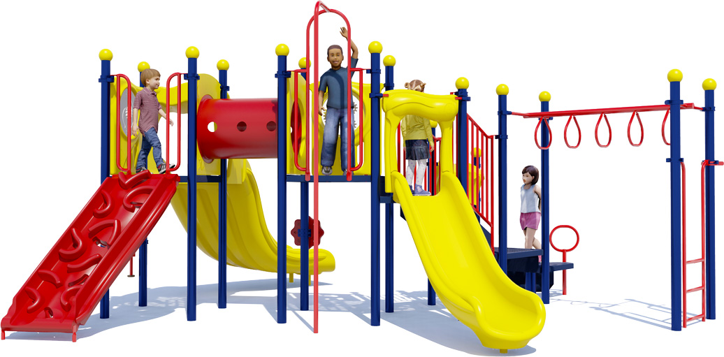 Smash Hit Play Structure - Front View - Primary Color Scheme