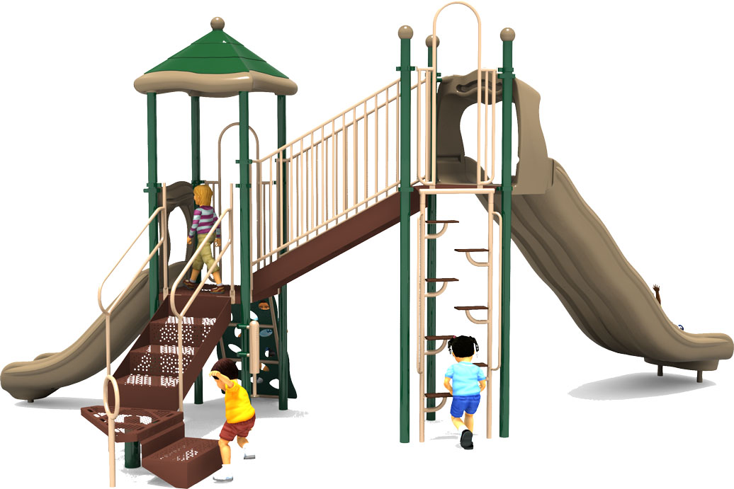 Sky High - Back View - Natural Color Scheme - Commercial Playground Equipment