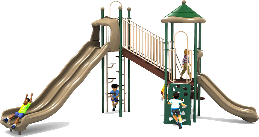 Sky High - Front View - Natural Color Scheme - Commercial Playground Equipment