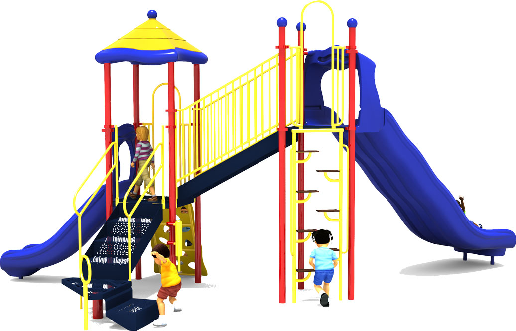 Sky High - Back View - Primary Color Scheme - Commercial Playground Equipment