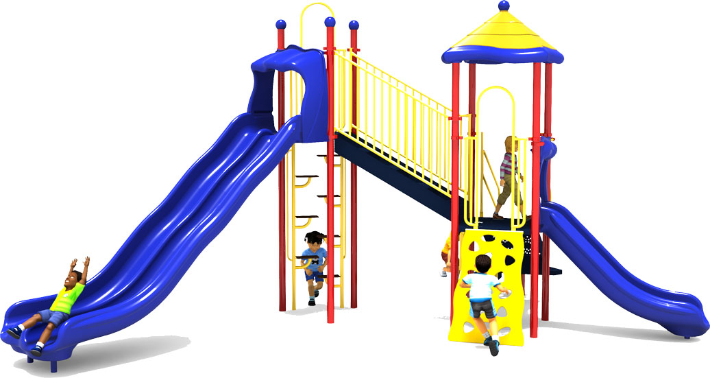 Sky High - Front View - Primary Color Scheme - Commercial Playground Equipment