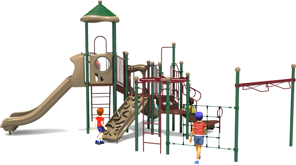 Play by Play - Natural - Back View | Commercial Playground Equipment | American Parks Company