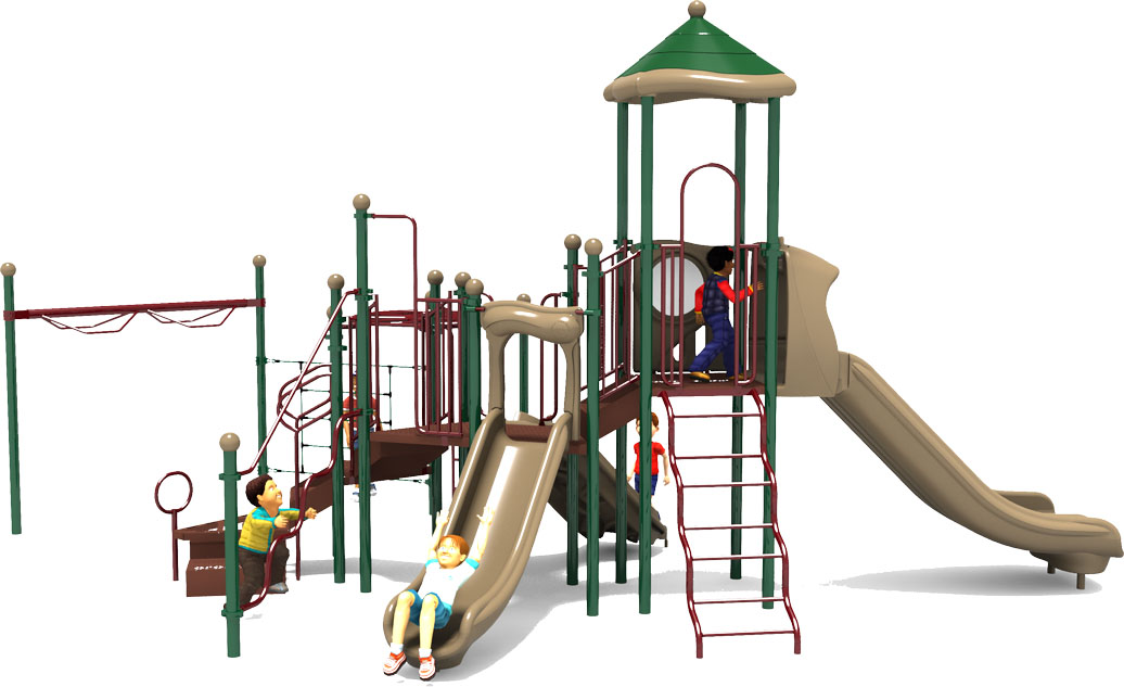 Play by Play - Natural - Front View | Commercial Playground Equipment | American Parks Company