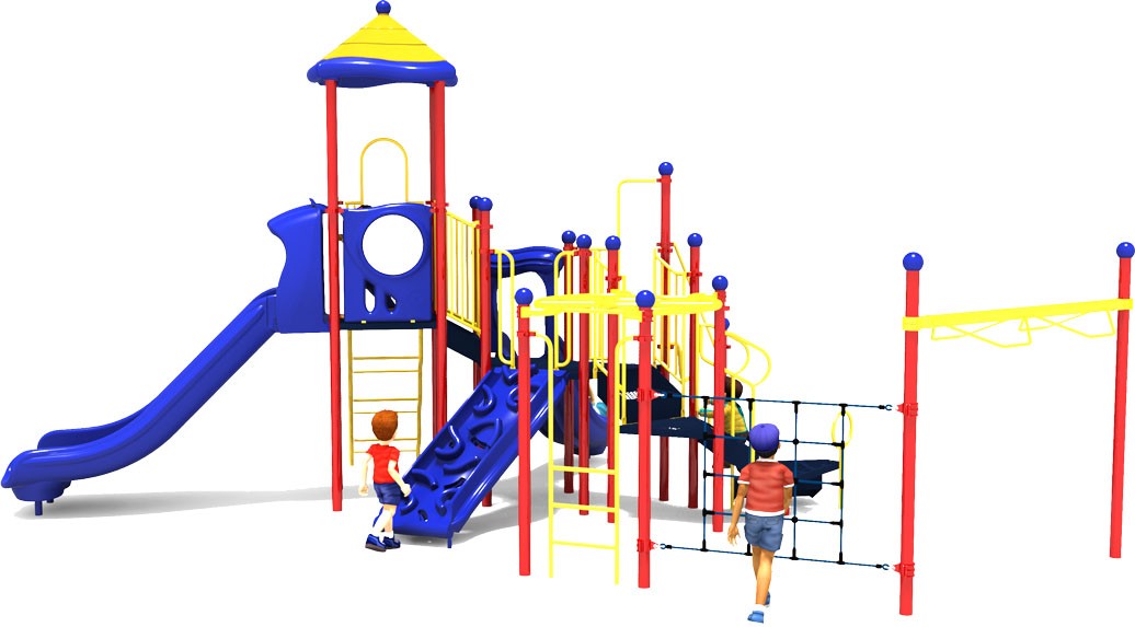Play by Play - Primary - Back View | Commercial Playground Equipment | American Parks Company