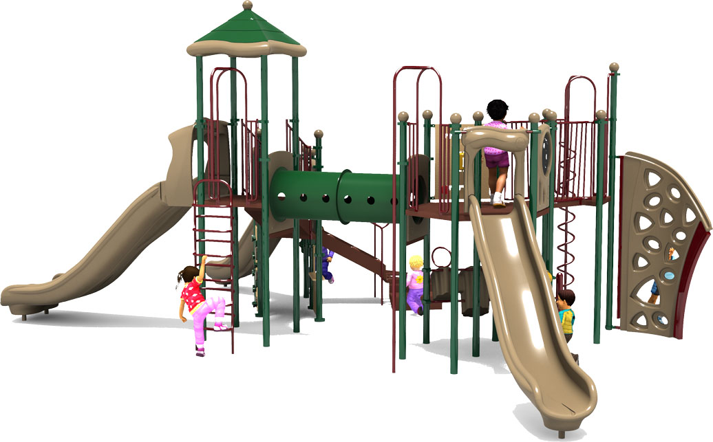 Eagle's Nest Play Structure - Natural Color Scheme - Back View