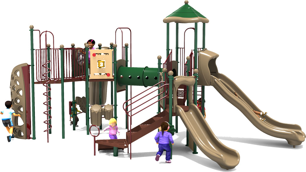 Eagle's Nest Play Structure - Natural Color Scheme - Front View