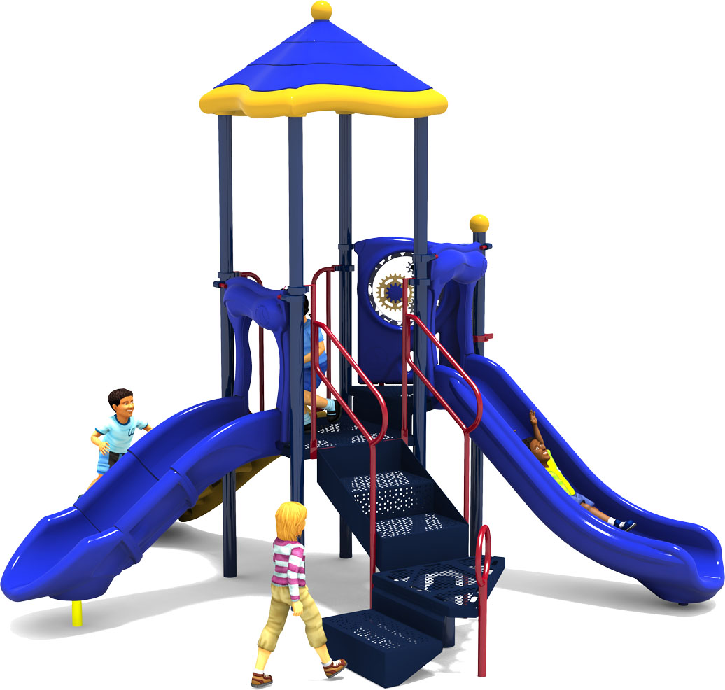Prim 'n Proper Commercial Play Structure - Primary Color Scheme - Front