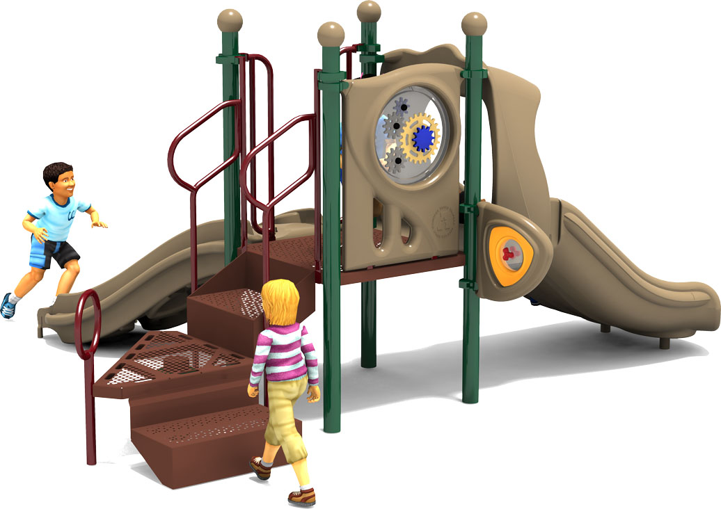 Getting Good Commercial  Playground Equipment - Natural Color Scheme