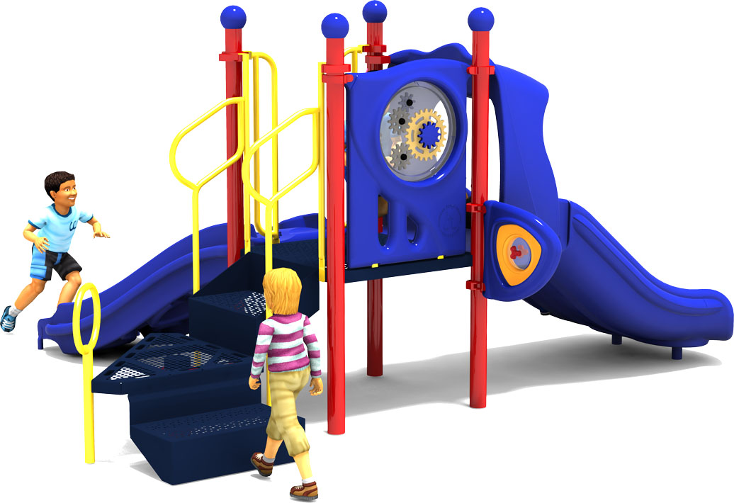 Getting Good Playground Equipment - Primary Color Scheme - Back View