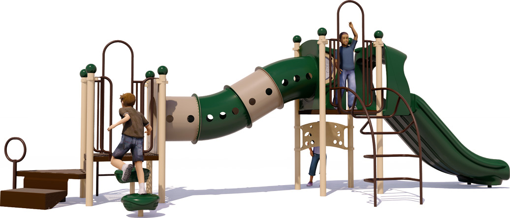 Total Tunny Playground Structure - Natural - Back
